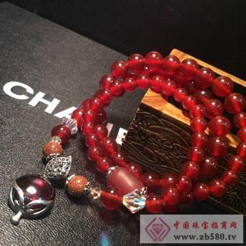 利和利贞-红玛瑙搭配红刚玉项链