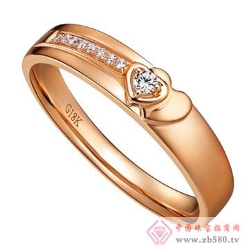 广东黄金-彩金戒指【安好】