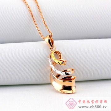 广东黄金-彩金螺旋吊坠