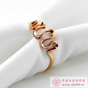 广东黄金-黄金玫瑰金戒指