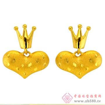 广东黄金-黄金耳饰【爱的加冕】