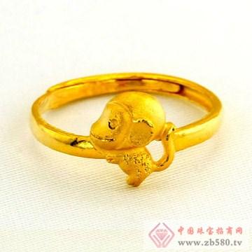 广东黄金-十二生肖黄金戒指【猴】