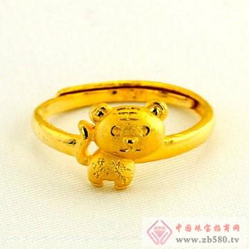 广东黄金-十二生肖黄金戒指【虎】