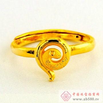 广东黄金-十二生肖黄金戒指【蛇】