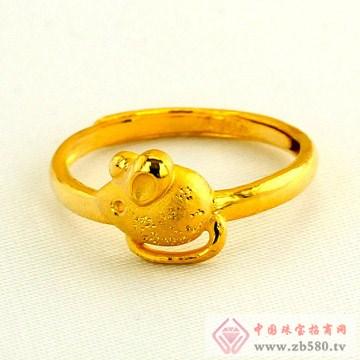 广东黄金-十二生肖黄金戒指【鼠】