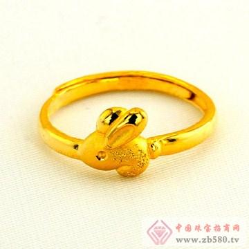 广东黄金-十二生肖黄金戒指【兔】