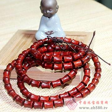 定心堂-小叶紫檀竹节手串