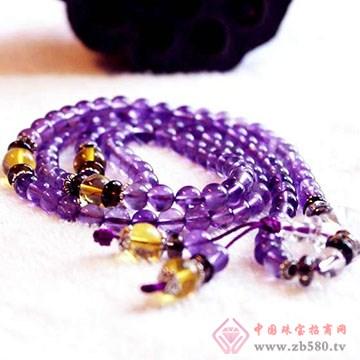 定心堂-紫水手串晶