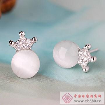 中国黄金·珍尚银S925银镶嵌耳钉01