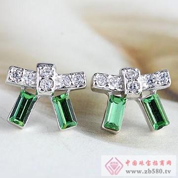 中国黄金·珍尚银S925银镶嵌耳环02