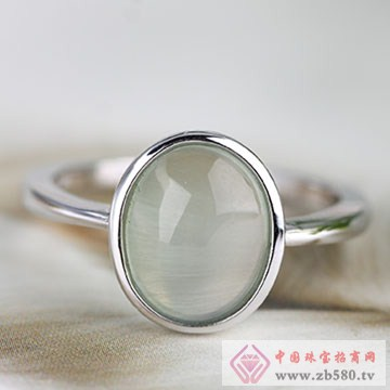 中国黄金·珍尚银S925银玉髓戒指02