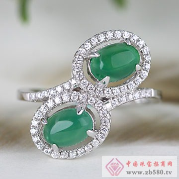 中国黄金·珍尚银S925银玉髓戒指04
