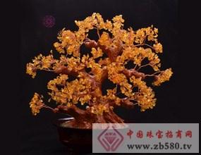 壹和園-纯天然黄水晶发财树摆件