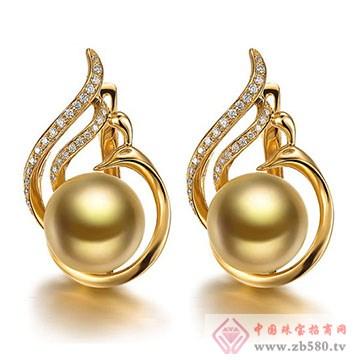 至纯珠宝-南洋金珍珠耳坠
