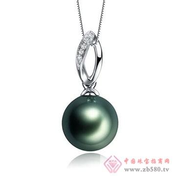 至纯珠宝-大溪地黑珍珠吊坠