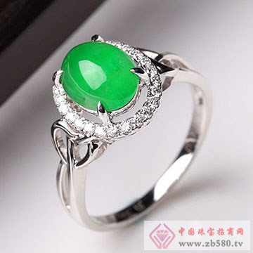 至纯珠宝-18K金翡翠戒指