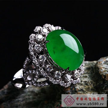 至纯珠宝-老坑冰种翡翠戒指