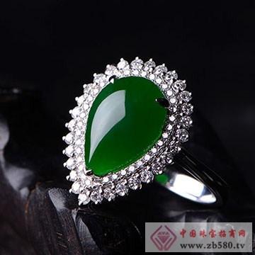至纯珠宝-老坑冰种浓阳绿翡翠戒指