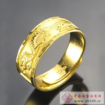 至纯珠宝-足金黄金男士戒指02