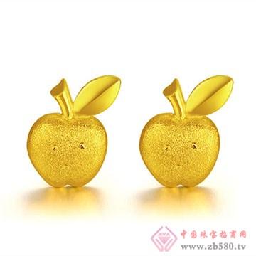 至纯珠宝-足金黄金女士耳钉