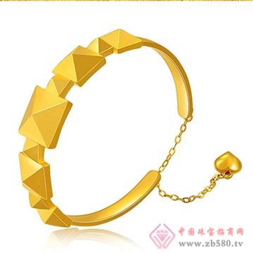 中国黄金·珍如金-3D硬金星光手镯