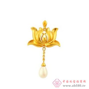 中国黄金·珍如金-黄金套装01吊坠