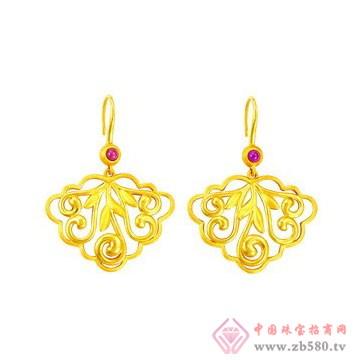 中国黄金·珍如金-黄金套装02耳坠