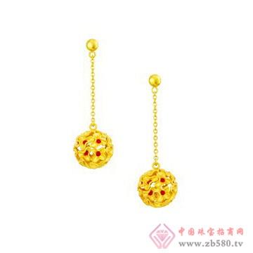 中国黄金·珍如金-黄金套装03耳坠