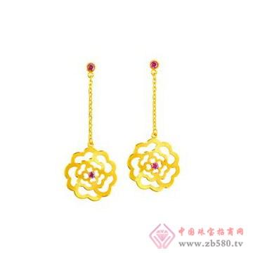 中国黄金·珍如金-黄金套装04耳坠