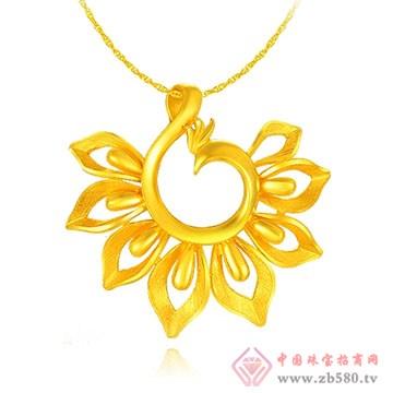 中国黄金·珍如金-千足金姿美吊坠