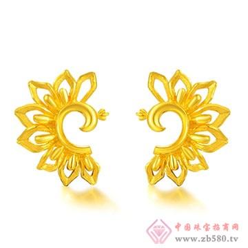 中国黄金·珍如金-千足金姿美耳钉