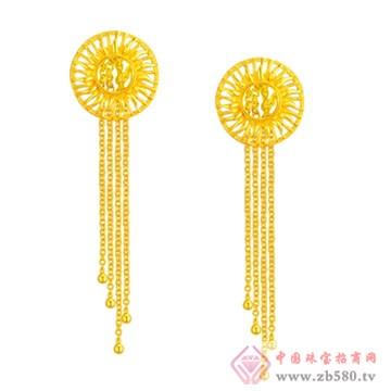 中国黄金·珍如金-睿动黄金耳坠