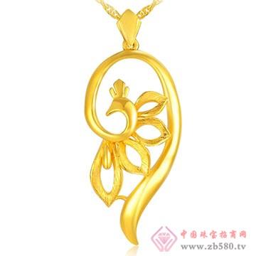 中国黄金·珍如金-姿美千足金吊坠