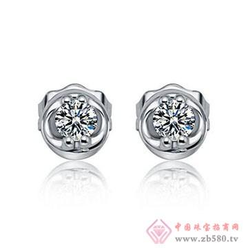 欧宝丽-钻石耳钉01
