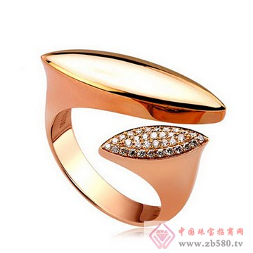 美地亚-K金钻石戒指04