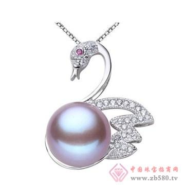 珍珠吊坠饰品项链天鹅款