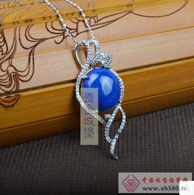 阿富汗925纯银镶嵌纯天然青金石时