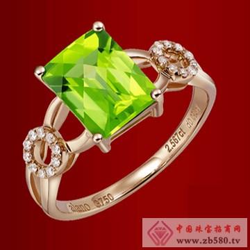 18K玫瑰金橄榄石戒指