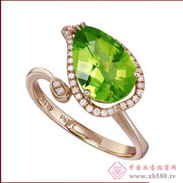 2014新款-18K金-橄榄石戒指