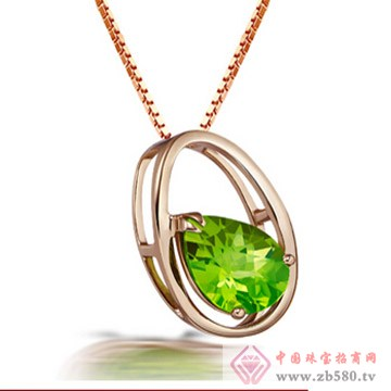 金橄榄石完美圆形吊坠