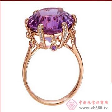 天籁——红18K金紫晶戒指