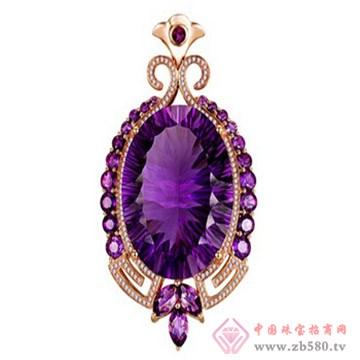 紫醉晶迷——红18K金紫晶吊坠