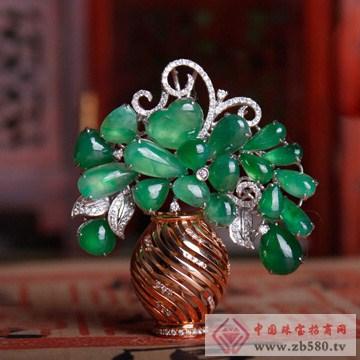 周萊福-翡翠胸针