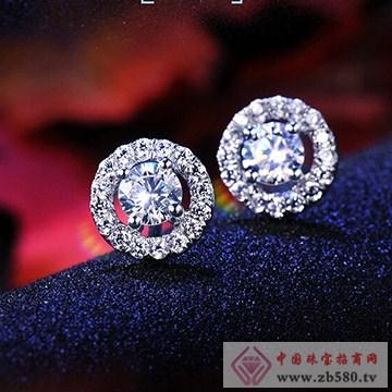 九印钻石钻石耳钉002