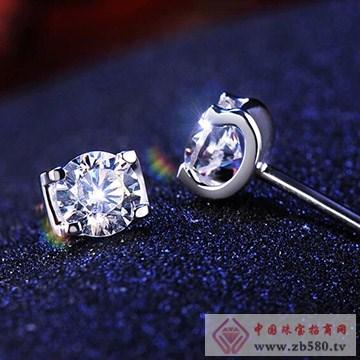 九印钻石钻石耳钉004