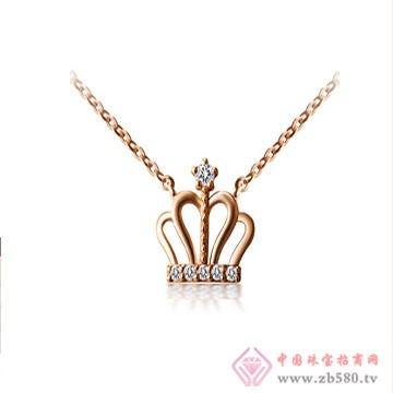 一后钻石【爱妃之冠】小清新18K项