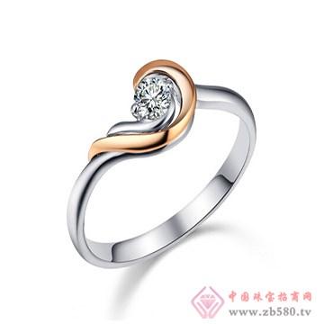 一后钻石【流转爱情】小清新18K戒
