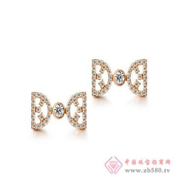 一后钻石【情窦】小清新18K耳钉