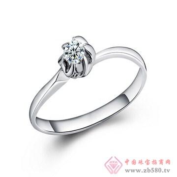 一后钻石【相思】白18K金钻石女戒