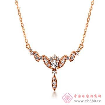 一后钻石【溢美花冠】小清新18K项